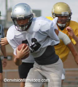 Junior RB Ryan Jones bulls past Matadors