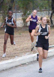 "Clark runners at ""1st"" meet"