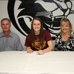 Claire Webster signs